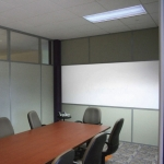 Flex Series Solid Tackable Panels Wrapped with Fabric and Built-in Whiteboard