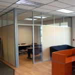Flex Series Solid Paneled Office with Clerestory and Sidelight