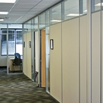 Flex Series Solid Panel Offices with Clerestory