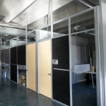 Flex Series - Clerestory Office Fronts with Maple Doors