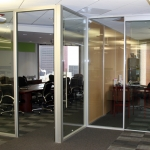 Flex - Full Height Glass Office Fronts in Anodized Finish