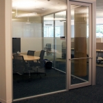 Flex Series - Glass Office with Aluminum Framed Glass Door