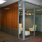 Flex Series Solid Panel Side Walls and Glass Front Lounge Room