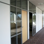 Flex Series Double Glazed and Solid Paneled Offices with Maple Doors